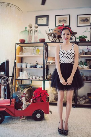Stacy Mesh Tutu Skirt In Black