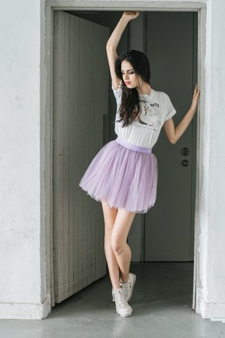 *PREMIUM* STACY MESH TUTU SKIRT IN Lavender