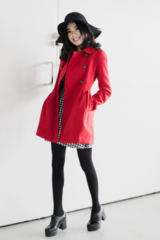 Military coat in red