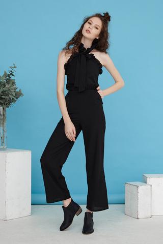 Marcella halter jumpsuit in black