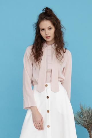 Elena Tie shirt in pink